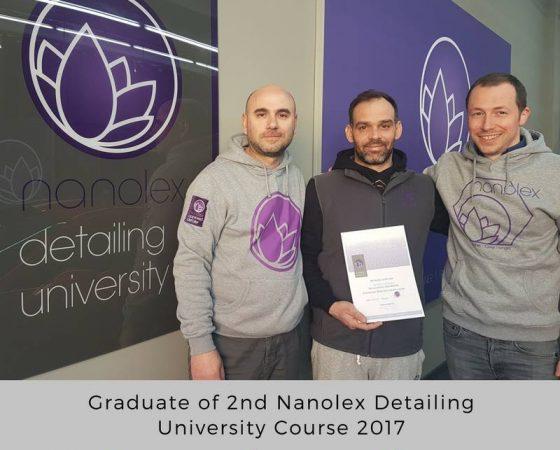 Graduates of 2nd Nanolex Detailing University Course 2017